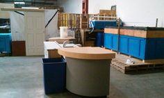 Fish and fish food processing sink