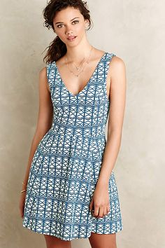 Textured Double-V Dress - anthropologie.com