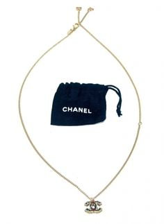Chanel Gold And Black Necklace $59