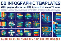 Check out 50 Infographic Templates Vol.1 by VL Shop on Creative Market