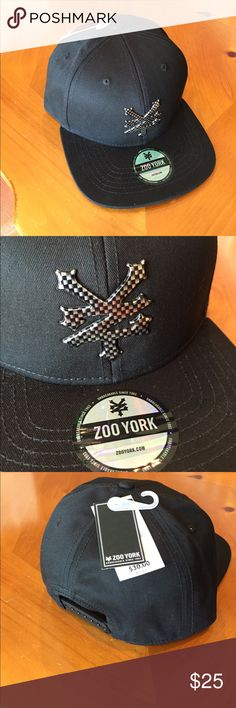 1a76634e5a7ac Zoo York Hip-Hop SnapBack Hat New Unique Zoo York metal logo baseball hip-hop  adjustable centre cap with a straight peak and vented accents Zoo York ...