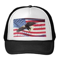 American Eagle and Flag Hat