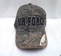 ee3dd3fa45cbe AIR FORCE DIGITAL WEB CAMO TEXT Military Veteran US AIR FORCE Hat 305 KAF  MT  BaseballCap
