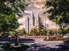 Salt Lake Temple by Brent Borup