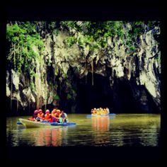 Underground River, Palawan, Phillipines. Damn Monkey, stole my banana on this trip.