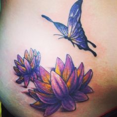 Blue lotus tattoo skin art pinterest blue lotus for Lotus flower and butterfly tattoo designs