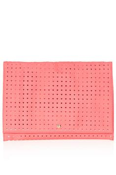 Heart Perforated Clutch - Clutch Bags - Bags & Wallets  - Bags & Accessories