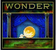 Lamanda CA, Wonder Brand fruit crate label