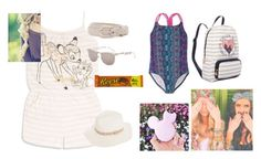 """""""Louise is going to the beach !"""" by christina-cookie ❤ liked on Polyvore featuring Disney"""
