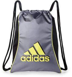 76997fd9d55e adidas Grey  amp  Yellow Drawstring Backpack by adidas Grey Yellow