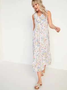 a Swing Dress, Dress Up, Midi Length Skirts, Easter Dress, Old Navy Women, What To Wear, V Neck, Summer Dresses, Clothes