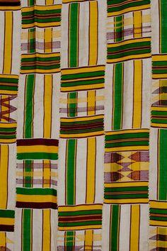 Africa | Kente Cloth, Ghana ~ Detail