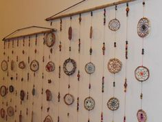 Yoga Decor, Diy Dream Catcher For Kids, Native American Crafts, String Art, Feng Shui, Window Treatments, Wind Chimes, Oriental, Outdoor Decor