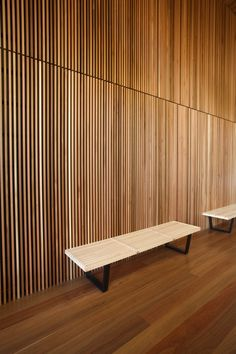 fine vertical interior timber cladding