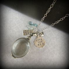 Glass Locket Necklace for Mom Gift for by YouCanQuoteMeOnThat, $98.00