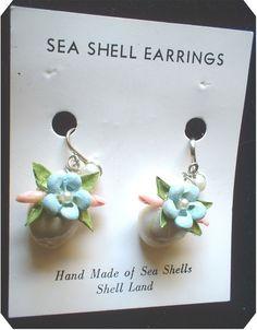 vintage SEA SHELL EARRINGS