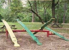 Teeter-Totters on the playground