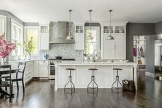 The Kitchen Pendants Are The Gustavian Lantern From Circa Lighting The Chandeliers Are