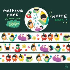 Masking Tape, Washi Tape, Character Drawing, Character Design, Ipad, Good Notes, Journal Stickers, Diy Stickers, Illustrations And Posters