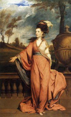 Portrait of Jane Fleming, Countess of Harrington by Joshua Reynolds