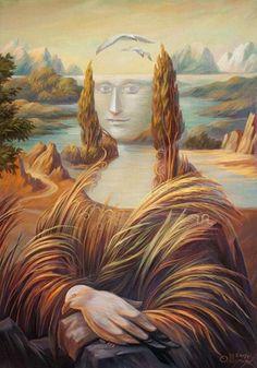 Joconde Leonard de Vinci - Mona Lisa La paréidolie ou l'art de voir des visages partout ! - Agence de Communication Paris Lyon