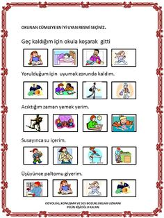 Turkish Language, Speech Therapy, Worksheets, Preschool, Teacher, How To Plan, Education, Fun, Olay