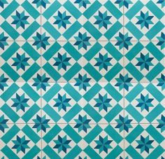 Harley Blue Cement Encaustic Tiles - encaustic tiles | Rebecca Hayes Interiors