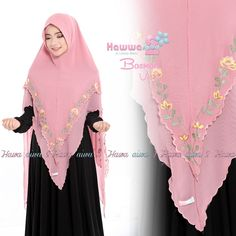 Khimar Bordir Basmah Vol 2 by Hawwa Aiwa Kerudung Ceruty 2 Lapis Kebaya Muslim, Muslim Hijab, Muslim Dress, Hijab Dress, Moslem Fashion, Niqab Fashion, Hijab Fashion Inspiration, Style Inspiration, How To Wear Hijab