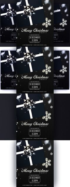 Black Happy New Year Flayer. Flyer Templates. $8.00