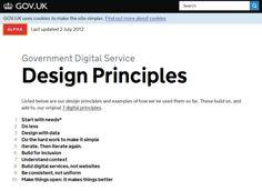 영국 정부의 디지털 서비스 설계 10대 원칙