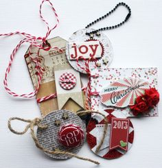 Gifttags for Christmas presents made by Dt Stine for anma.no