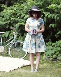 Delightfully Tacky looking amazing in one of our Make the Cut Dresses: Beauty in the Air Dress in Delphinium. So whimsical!