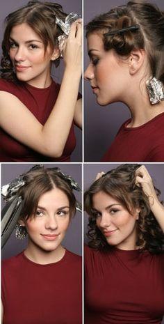 Já conhece esta técnica do papel alumínio para fazer cachos no cabelo? #cachos #cabelo #ondas