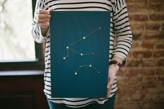 A zodiac constellation inspired DIY. Zodiac Constellations, Ladies Night, Homemade Gifts, Great Gifts, Gift Ideas, Inspired, Wood, Artwork, Projects
