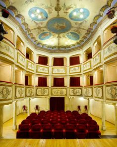 www.teatropiccolo.it  The Smallest Theater in the World  in Monte Castello di Vibio (PG) - Italy  Only 99 places to dream...  viewing performances, making meeting and civil marriages!