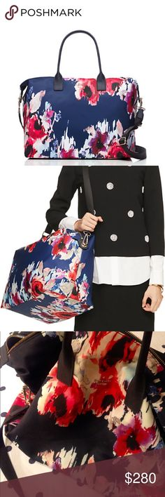 Kate Spade Weekender This Kate Spade floral weekender bag is perfect for traveling. It has not been used and is in perfect condition! kate spade Bags Travel Bags