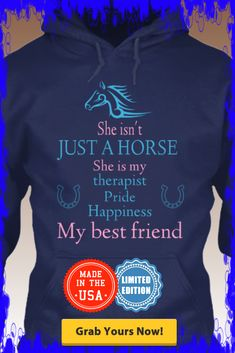 She isn't JUST A HORSE Hoodie Design Limited edition.Grab yours and for yo - Women Horse Tee Shirt - Fashionable Women Horse Tee Shirt - She isn't JUST A HORSE Hoodie Design Limited edition.Grab yours and for your friends.Various colors. Horse Riding Clothes, Horse Show Clothes, Equestrian Outfits, Equestrian Style, Horse Shirt, I Love Music, Country Outfits, Look Cool, Cute Shirts