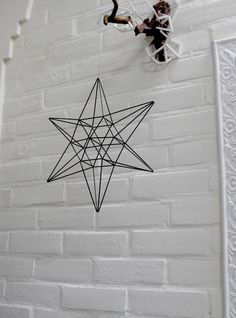 Shop for on Etsy, the place to express your creativity through the buying and selling of handmade and vintage goods. Mobile Art, Hanging Mobile, Geometric Sculpture, Geometric Art, Parol, Star Diy, Metal Wall Art Decor, Diy Presents, Minimalist Home Decor