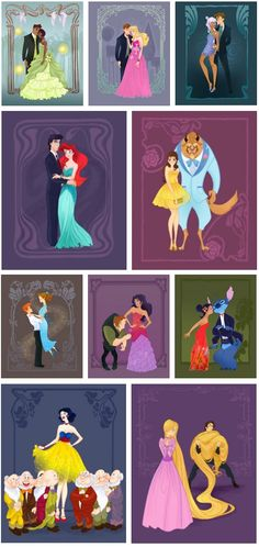 Disney Princess Prom Pics. I love Peter and Wendy, because they seem so much younger tan the other characters but not so much that they look out of place. Plus the pose gives Peter that still childlike aura that is absolutely necessary to Peter.