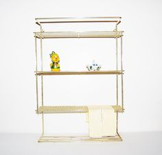 Vintage Gold Metal 1950's Wall Shelves by CheekyVintageCloset, $36.00
