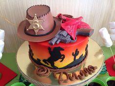 birthday 6 years. cowboy. cowboy party,  candy bar, cowboy cake