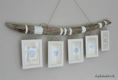cadres sur bois flotté par Stéphanie Bricole