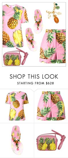 """""""Dolce & Gabbana Pineapple"""" by amchavesj-1 ❤ liked on Polyvore featuring Dolce&Gabbana and dolceandgabbana"""