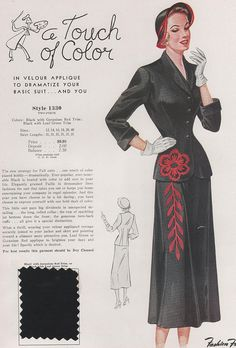 love the pocket and skirt detail! (Fashion Frocks salesman sample 1949)