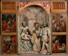 Anonymous Artist Adoration of the Magi Triptych Panel Germany...