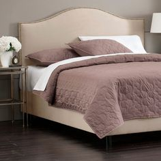 I pinned this Greta Arc Queen Bed in Oatmeal from the La Dolce Vita event at Joss and Main!