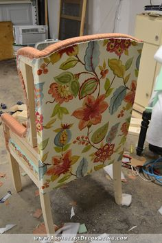 DIY Upholstered Wingback Dining Chair – Finished! (How To Upholster The Frame, Part 2)