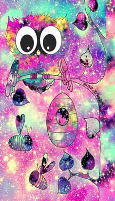 Sweet owl galaxy wallpaper I created for the app CocoPPa!