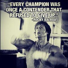 Rocky Balboa Boxing Motivational Quote