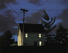 Daylight savings time is rolling up on us fast, and these nocturnal paintings by Christopher Burk are helping me get. Blue Neighbourhood, Stormy Night, Daylight Savings Time, Night Vale, A Series Of Unfortunate Events, Dark Places, Character Aesthetic, Nocturne, Shades Of Purple